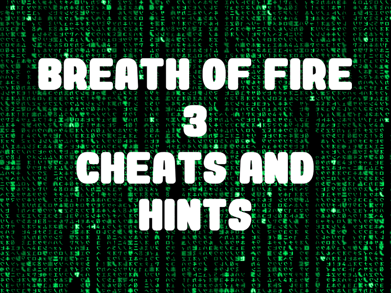 Breath of Fire 3 Cheats and Hints for PlayStation